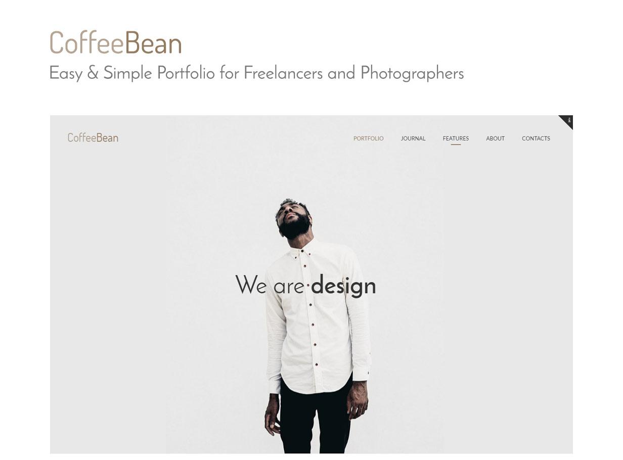 CoffeeBean - Easy & Simple Portfolio for Freelancers, Studios and Photographers - 1