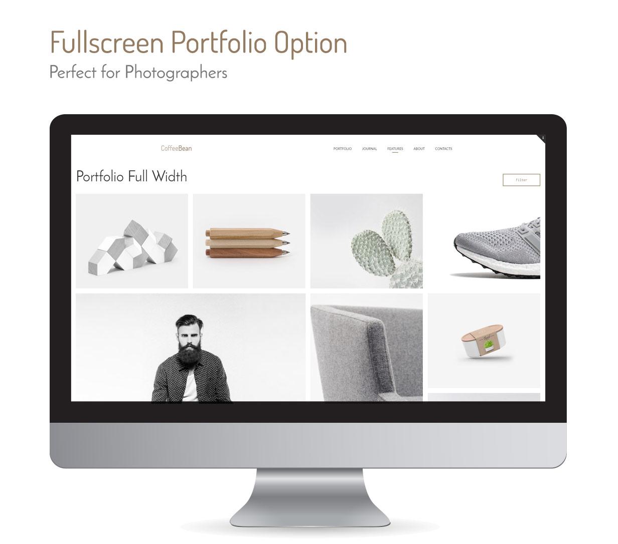 CoffeeBean - Easy & Simple Portfolio for Freelancers, Studios and Photographers